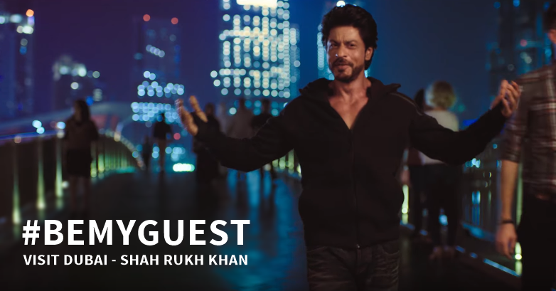 shah rukh khan visit dubai be my guest campaign