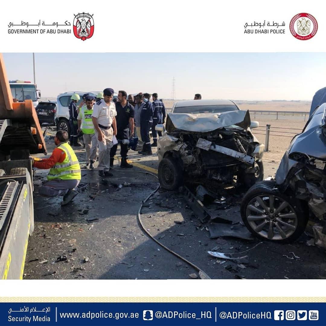 22 People Injured, 44 Cars Crash in Abu Dhabi Road | Dubai NRI