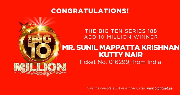 big ticket 10 million indian winner