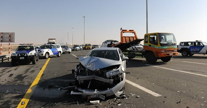 car accident abu dhabi highway