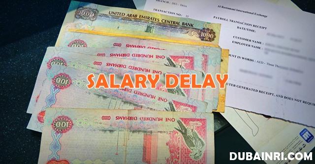 uae salary delay by employer