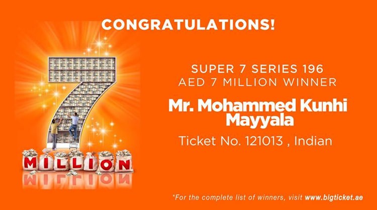 mohammed kunhi mayyala big ticket winner
