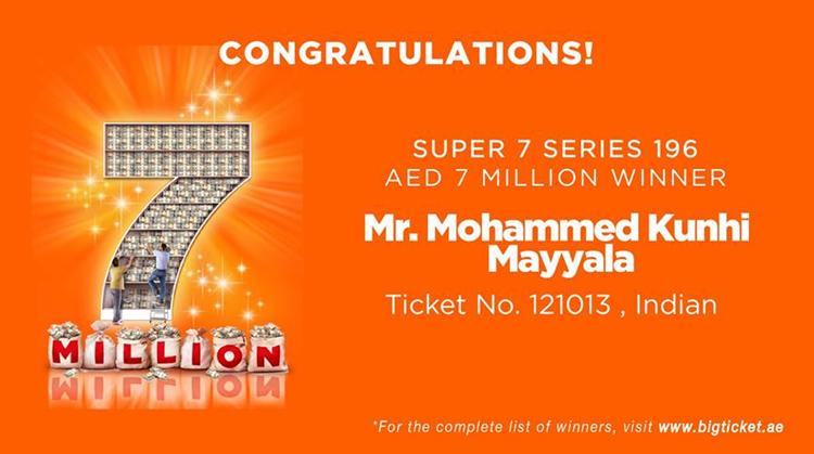 mohammed kunhi mayyala big ticket winner