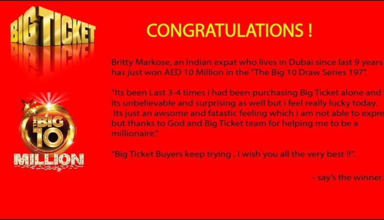 big ticket abu dhabi indian 10 million