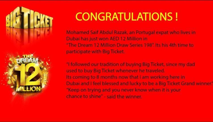 big ticket abu Dhabi raffle portugal