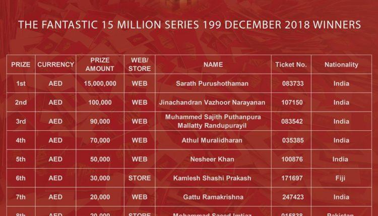big ticket abu dhabi series 199 raffle winners